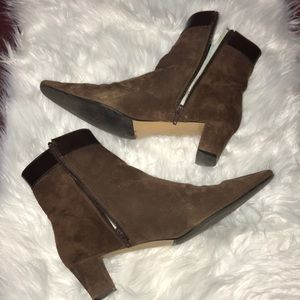 COACH HILLARY Brown Suede Booties 9